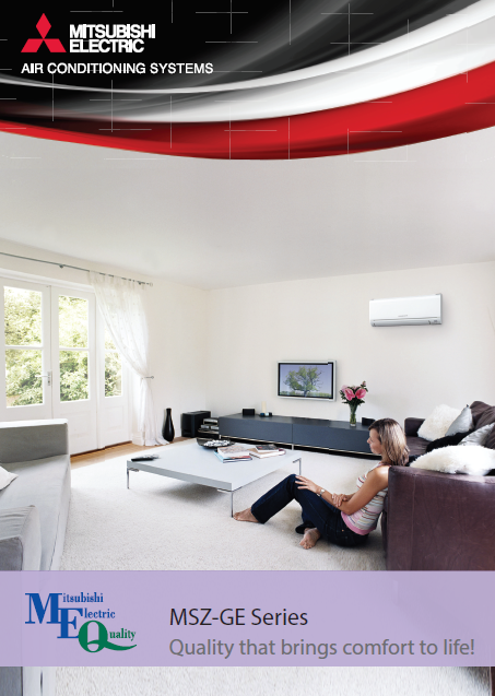 Mitsubishi Msz Ge Series Brochure Mist Heating And Cooling